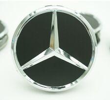Satz von 4 Nabendeckel Mercedes Benz 4x75mm Felgendeckel nabenkappen Schwarz