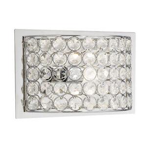 KICHLER Clear Krystal Ice Wall Sconce Vanity Bathroom Light Lighting Chrome