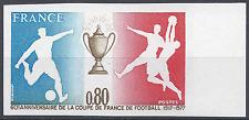 COUPE DE FRANCE DE FOOTBALL N°1940 TIMBRE NON DENTELÉ IMPERF 1977 NEUF ** MNH