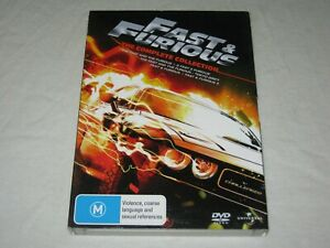 Fast & Furious - The Complete Collection - 5 Disc - VGC - Region 4 - DVD