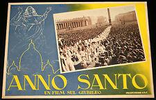 Papa Pio XII° ANNO SANTO Un film sul Giubileo - fotobusta originale 1950 #3
