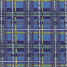 RJR One Frosty Christmas Blue Yellow Green Plaid Tartan Scottish Quilt Fabric