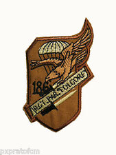 Patch Folgore 186 Rgt Paracadutisti Militare Tan Toppa per Mimetica Vegetata Des