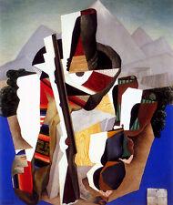 Zapatista Landscape-The Guerrilla   by Diego Rivera Giclee Canvas Print Repro