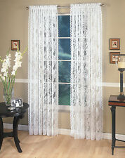 """Four (4) Lace Panels, each 60""""x84"""" Ivory, Lorraine Home Fashions"""