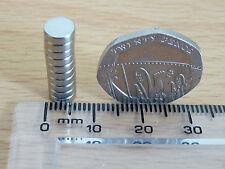 NEODYMIUM/RARE EARTH DISC MAGNET - 10 LOT - 6mm x 2mm