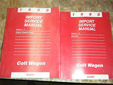 1990 DODGE PLYMOUTH COLT WAGON FACTORY SERVICE MANUALS SHOP REPAIR