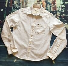 Hollister Boys Small S Longsleeve Button Up Shirt White Casual