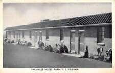 Farmville Virginia Motel Street View Antique Postcard K104892