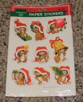 RARE Santa Mouse Christmas Ambassador Sticker Sheets UNUSED Scrapbooking