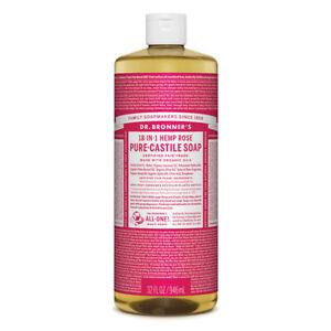 Dr Bronner's Pure Castile Soap Liquid Rose 946ml
