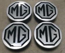 New Genuine MG TF LE500 Black & Silver Alloy Wheel Centre Caps 54mm X 4