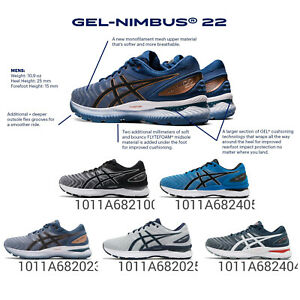 Asics Gel-Nimbus 22 4E Extra Wide Underpronation Men Road Running Shoes Pick 1
