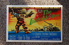 The Invisible Boy Lobby Card Movie Poster Robby the Robot