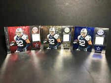 Lot of (3) 2013 Totally Certified Red/Blue/Gold JERSEY #13 Jason Witten Cowboys
