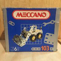 MECCANO 103 France VTG Metal Construction kit truck bulldozer playset
