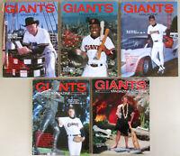 Lot x5 SF GIANTS MAGAZINE PROGRAMS 1988 1989 Kevin Mitchell Roger Craig 1 2 3 4