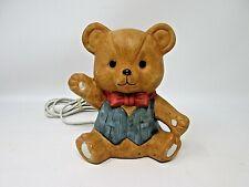 Night Light Intepur Teddy Bear Nursery Childs Room Vintage Made in Taiwan