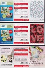 Australia Stamps Booklet Unfolded 2011 Set of 3 Special Occasions B477 - B479