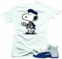 "Shirt to match  Air Jordan Retro 12 French Blue sneakers""Ala Carte"" Whitetee"