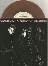 Generation X (Billy Idol) - Valley Of The Dolls 1979 7 inch brown vinyl single