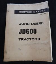 GENUINE 1964 JOHN DEERE 600 JD600 GAS & DIESEL TRACTOR SERVICE MANUAL VERY NICE