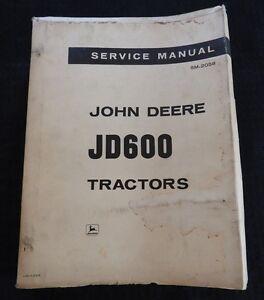 GENUINE 1964 JOHN DEERE 600 JD600 GAS & DIESEL TRACTOR SERVICE MANUAL VERY NICE
