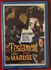 TESTAMENT OF DR MABUSE 1962 SINISTER CINEMA DVD GERT FROBE
