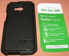 Body Glove Satin Gel case for HTC One M8, Black Brushed finish, slip on install