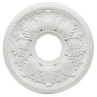 14 in. White Bellezza Ceiling Medallion by  Hampton Bay