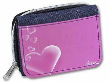 Pink Hearts Sentiment for 'Nan' Girls/Ladies Denim Purse Wallet Christ, MUM-H4JW