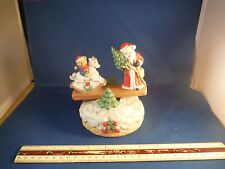 Vintage Santa Claus Moving See-Saw Music Box