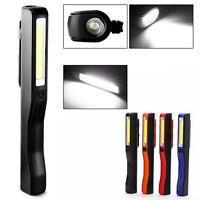 Portable COB LED Magnetic Pen Clip Hand Torch Work Light Lamp Lanterns Torches
