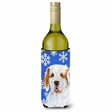 Caroline's Treasures-Winter Snowflakes Holiday Wine Bottle Beverage Insulator.