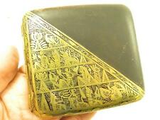 FABULOUS ART DECO JAPANESE DAMASCENE 18K GOLD OVERLAY EGYPTIAN CIGARETTE CASE