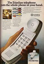 1980 Western Electric Trimline Telephone Print Ad Advertisement Vintage VTG 80s