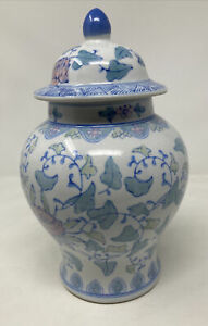 Japanese style Porcelain Vase Home Ware Floral Flowers Blue White Pink Green
