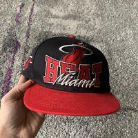 New Era Hardwood Classics Nba Miami Heat Basketball Snapback Hat