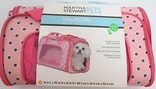Martha Stewart Pets Folding Dog Carrier Medium Pink Floral New