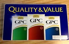 GPC ADVERTISING CIGARETTES SIGN 1997 COLLECTABLE NICE
