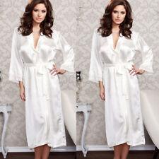 USA Women Sexy Faux Satin Lace Silk Underwear Lingerie Nightdress Sleepwear Robe