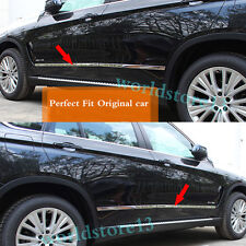 Fit For 2014-2017 BMW X5 F15 Stainless Steel Body Side Door Molding Trim Garnish