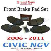 2006 - 2011 Honda CIVIC NGV GX Genuine Factory OEM Front Brake Pad Set
