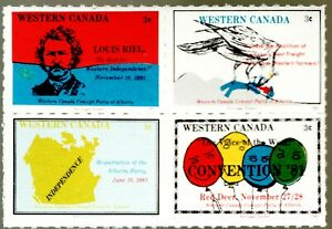 1981 Western Canada Alberta Concept Party -  Block 4 MNH political stamps