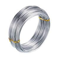 3Mm Aluminiumdraht 10M Craft Silberdraht für die Schmuckherstellung Tonmode Z9U3