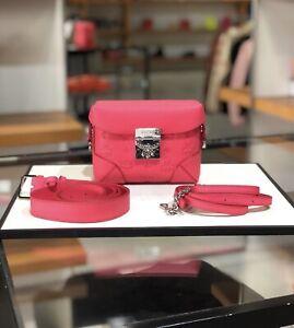 Authentic MCM Small Belt/ Crossbody Bag  Tea berry Color $895+ Tax