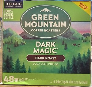 Green Mountain Coffee Roasters Dark Magic Dark Roast Coffee 48 K-Cup.Exp.09/21
