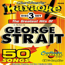 Karaoke Chartbuster 5046 George Strait Hits 3 Disc Set in Case with Song List