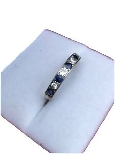 sapphire diamond 1/2 Eternity ring