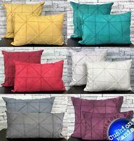 """Cushion covers or Cushions PEARL Chesterfield faux silk Cushions 17/""""X17/"""""""
